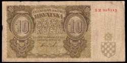 Croacia 10 Kuna Pk 5b (1.941) MBC-