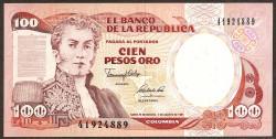 Colombia 100 Pesos Oro PK 426A (7-8-1.991) S/C