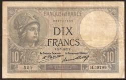 Francia 10 Francos PK 73d (2-7-1.927) MBC