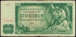 Checoslovaquia 100 Coronas Pk 91b (1.961) MBC-