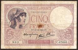Francia 5 Francos PK 83 (1.939-1.940) MBC-