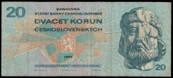 Checoslovaquia 20 Coronas PK 92 (1.970) MBC