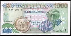 Ghana 1000 Cedis PK 32a (5-12-1996) S/C