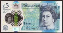 Inglaterra 5 Libras PK Nuevo (2.017) S/C