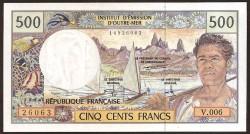 Territorios Franceses del Pacífico 500 Francos PK 1c (1.992) S/C
