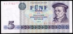 Alemania Democrática 5 Marcos PK 27a (1.975) S/C