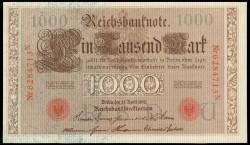 Alemania 1.000 Marcos PK 44b (21-4-1.910) EBC-