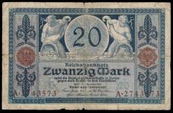 Alemania 20 Marcos PK 63 (4-11-1.915) BC+