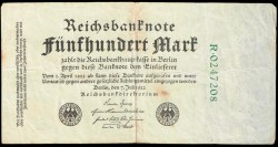 Alemania 500 Marcos PK 74b (7-7-1.922) MBC