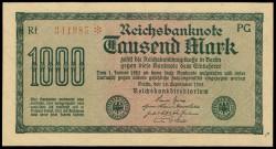 Alemania 1.000 Marcos PK 76b (15-9-1.922) S/C-