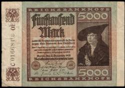 Alemania 5.000 Marcos PK 81 (2-12-1.922) MBC-