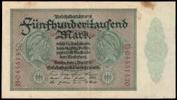 Alemania 500.000 Marcos PK 88a (1-5-1.923) MBC-