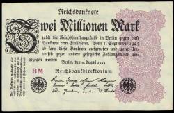 Alemania 2 Millones de Marcos PK 104a (9-8-1.923) EBC+