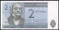 Estonia 2 Krooni Pk 70a (1.992) S/C