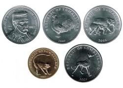 Somalilandia 2002 - 2005 5 valores (5,5,5, 10 y 20 Shillings) S/C
