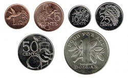 Trinidad and Tobago 1979 - 2016 1,5,10,25 & 50 Cents. UNC