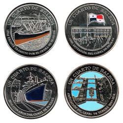 Panamá 2016 4x 1/4 Balboa (Centenary of the Panama Channel) UNC
