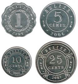 Belize 2000 - 2007 4 Coins UNC