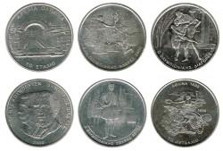 Greece 1998 6 x 500 Drachmes, 2004 Olympics UNC