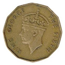 Fiji 1953 3 Pence George VI KM 18 VF