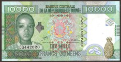 Guinea 10.000 Francos PK 42b (2.008) S/C