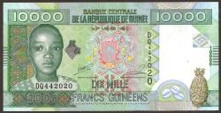 Guinea 10,000 Francs PK 42b (2008) UNC