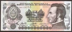 Honduras 5 Lempiras PK 91a (13-7-2.006) S/C