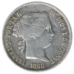 20 céntimos de peso 1868 Manila MBC+