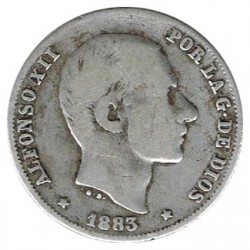 20 centimos 1883 Manila KM 147 F-VF