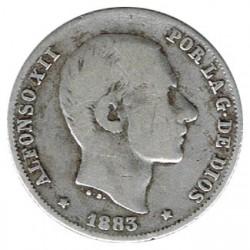 20 céntimos de peso 1883 Manila BC+
