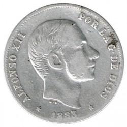 20 céntimos de peso 1883 Manila MBC
