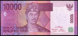 Indonesia 10.000 Rupias PK 143 (2.005) S/C