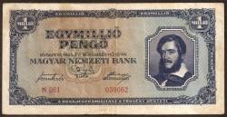 Hungary 1 Million Milpengö Pickk 122 (16-11-1.945) aVF