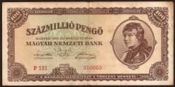 Hungría 100 Millones de Pengö Pk 124 (18-3-1.946) MBC-