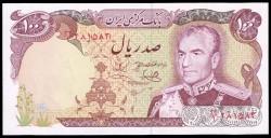 Iran 100 Rials Pick 102d (1974-79) UNC