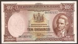 Nueva Zelanda 10 Shillings Pk 158a (1.940-55) MBC+