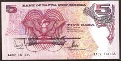Papúa Nueva Guinea 5 Kina PK 13d (1.992) S/C