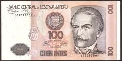 Perú 100 Intis PK 133 (26-6-1.987) S/C