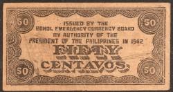Filipinas 50 Centavos PK S 134e (1.942) MBC-