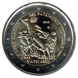 Vaticano 2018 2 Euros Año Europeo del Patrimonio Cultural S/C