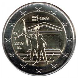 Belgium 2018 2 Euro May of 68 UNC