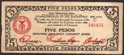 Philippines 5 Pesos Pick S 517 (1944) aVF