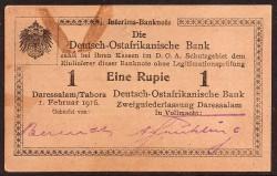 German East Africa 1 Rupee PK 19 (1-2-1.916) aUNC