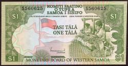 Western Samoa 1 Tala Pick 19 (1980) UNC