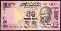 India 50 Rupias PK 90f (1.997) S/C