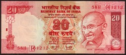 India 20 Rupees Pick 96d (2008) UNC