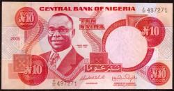 Nigeria 10 Naira PK 25k (2.005) S/C