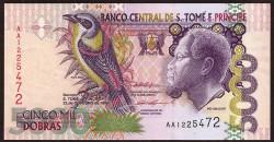 Santo Tomé y Príncipe 5.000 Dobras Pk 65a (22-10-1.996) S/C