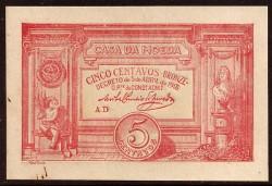Portugal 5 Centavos Pick 98 (5-4-1918) UNC (spots)