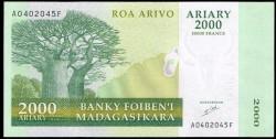 Madagascar 2.000 Ariary PK 83 (2.003) S/C